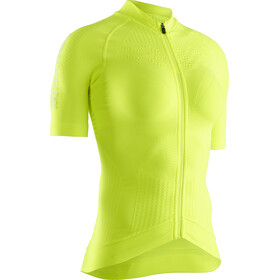 X-Bionic Effektor G2 Fiets Jersey Korte Mouwen Doorlopende Rits Dames, phyton yellow/arctic white
